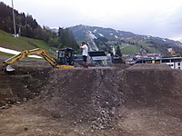 Bikepark Planai - Bau der Table-Line und Pump Track  User: News-Pics 2013-05-20, 21:13 1600 x 1200 Pixel Location: Schladming  Klicks: 27 Rating: 0,0  Dateiname: IMG_20130503_192428.jpg