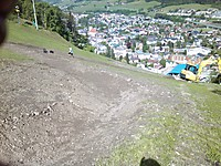 Bikepark Planai - Zielhang der Downhill-Strecke  User: News-Pics 2013-05-20, 22:00 1600 x 1200 Pixel Location: Schladming  Klicks: 26 Rating: 0,0  Dateiname: IMG_20130515_100023.jpg
