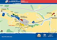 Event Area beim Weltcup in Leogang Dateiname: UCI_WorldCup_Leogang_2010_EventArenaMap.jpg