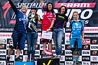 Specialized SRAM Enduro Series Gesamtwertung Damen 2014 Dateiname: Awards_Ceremony_Pro_Women_-_SSES_Leogang_Saalbach_2014.jpg